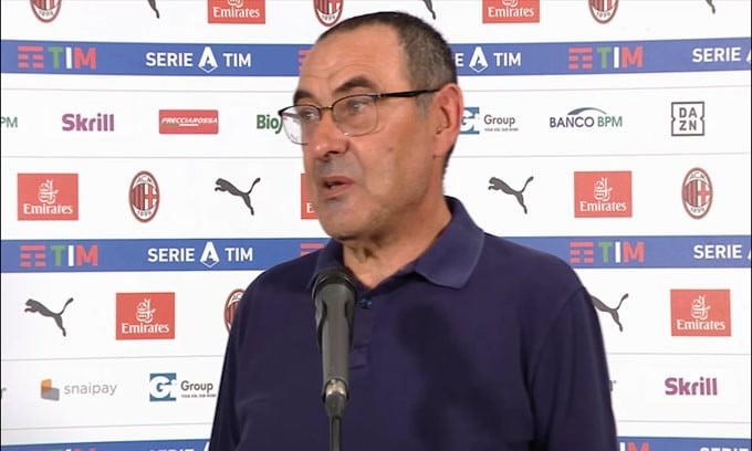 "Sarri categorico: ""Nessuna squadra può farci 3 gol in 5'"""