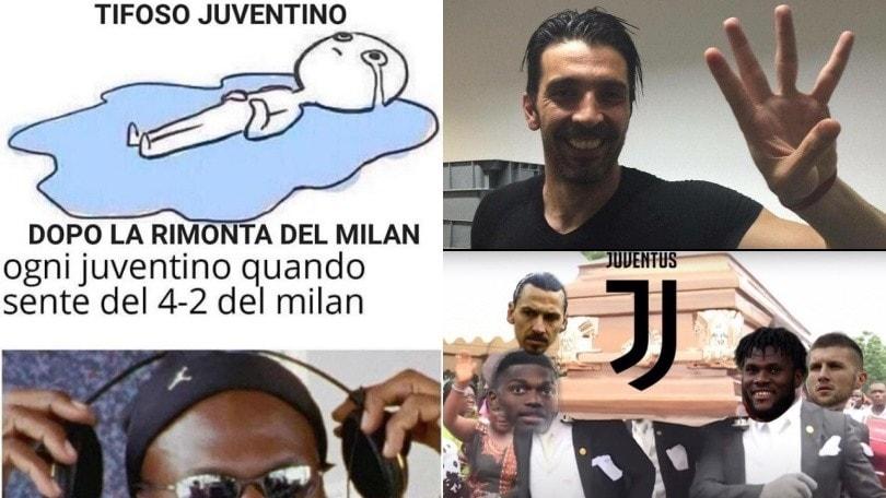 Milan, quattro schiaffi alla Juve: social impazziti