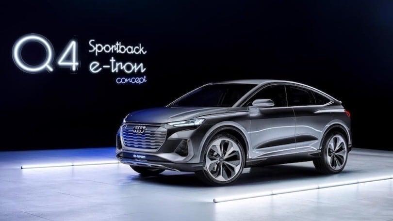 Audi Q4 Sportback e-tron, il SUV-coupé arriva nel 2021