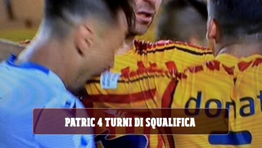 Patric, quattro turni di squalifica per il morso in Lecce-Lazio