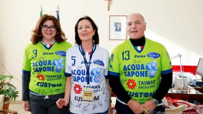 La Top Volley saluta il prefetto di Latina Maria Rosa Trio