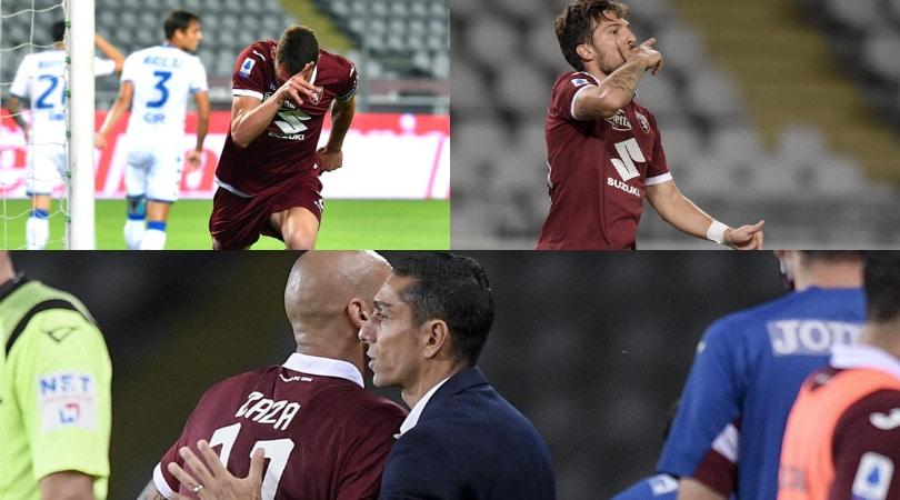 Belotti, Verdi e Zaza guidano la rimonta del Torino contro il Brescia