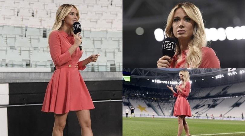 Diletta Leotta, che look per Juve-Atalanta!