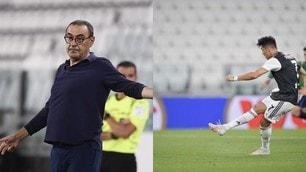 Ronaldo salva la Juve con l'Atalanta: la tensione di Sarri