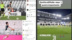"""Juve, le reazioni social di Ronaldo e compagni: """"Con l'Atalanta punto prezioso"""""""