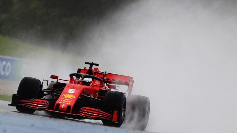 GP Stiria: contatto tra le Ferrari al via, ritiro per Vettel e Leclerc