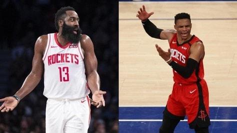 Houston Rockets, Harden e Westbrook non viaggiano con la squadra