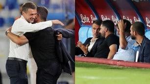 Gattuso e Maldini, abbraccio e confronto prima di Napoli-Milan