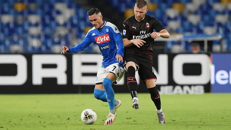 Napoli-Milan 2-2, il tabellino