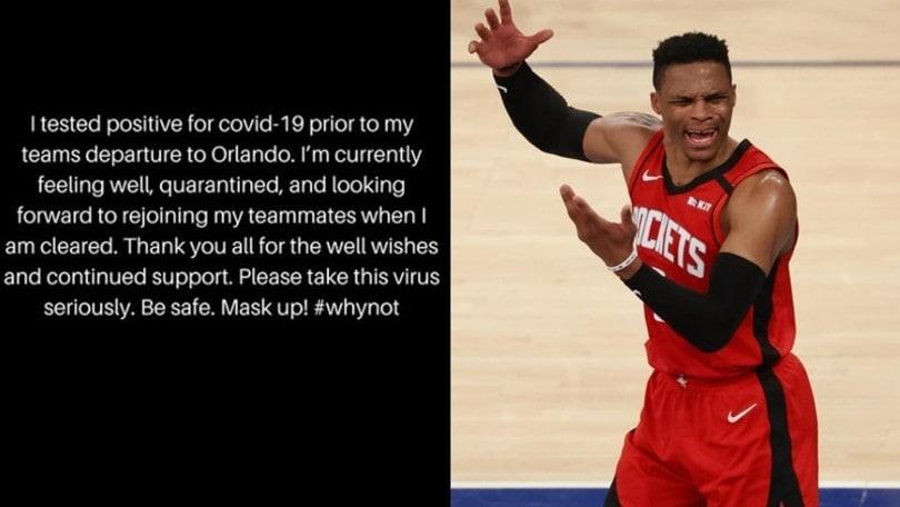 NBA, Houston: Westbrook annuncia la positività al Coronavirus