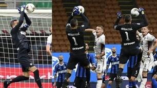 Handanovic, clamoroso errore in Inter-Torino: la fotosequenza