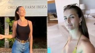 Lazio, lady Correa incanta a Ibiza: relax tra mare e piscina