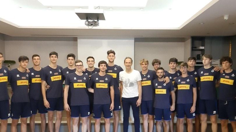 Lorenzo Bernardi in visita alla Juniores