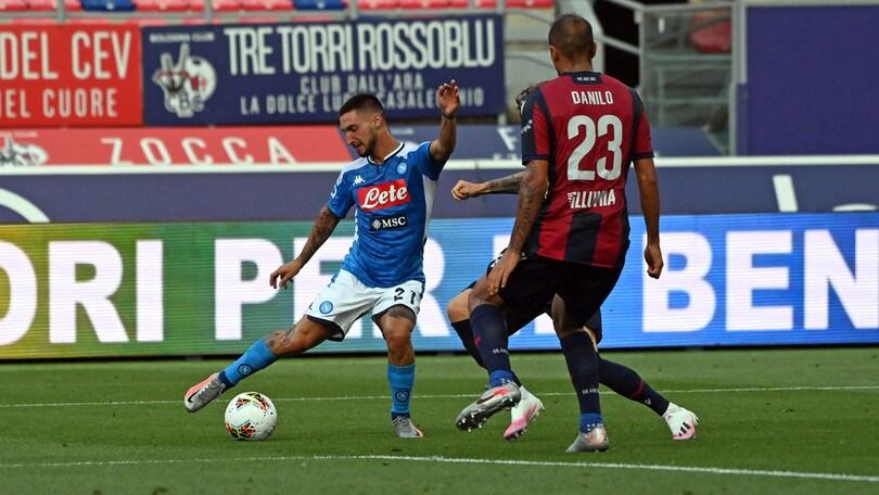 Bologna-Napoli 1-1, il tabellino
