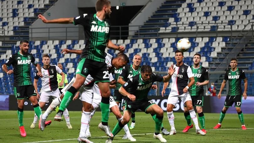 Sassuolo-Juventus 3-3, il tabellino