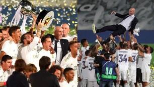 Real Madrid, che festa per il titolo di Liga: Zidane portato in trionfo