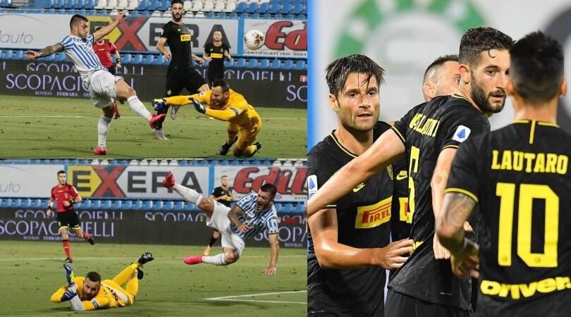L'Inter va seconda e la Spal protesta per il rigore non dato