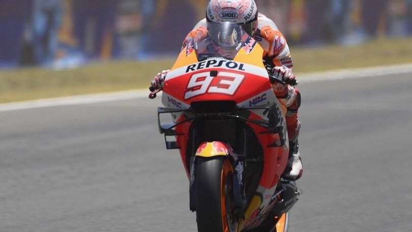 MotoGp Spagna: Marquez svetta nel Warm Up, Rossi decimo