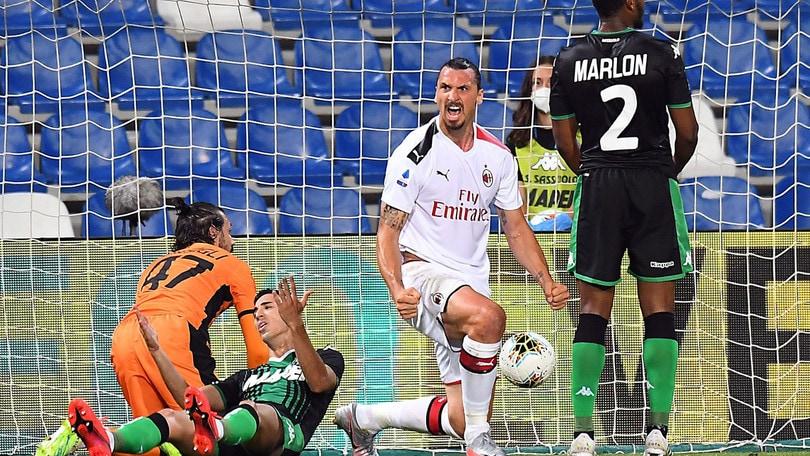 Sassuolo-Milan 1-2, il tabellino
