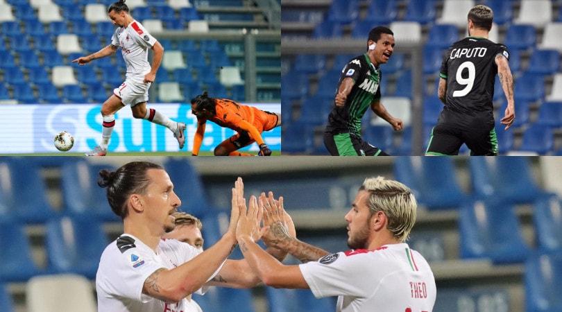 Milan, Ibrahimovic è tornato! Doppietta e 2-1 al Sassuolo
