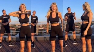 Diletta Leotta si scatena su TikTok insieme ad Ibrahimovic