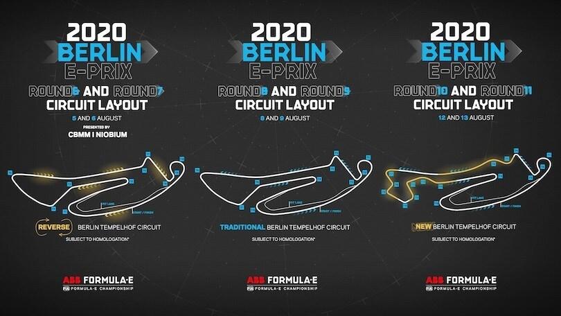 Formula E, Berlino svela i suoi tre circuiti in uno per i 6 ePrix del 2020