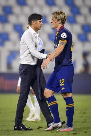 Zaniolo, super gol e l'abbraccio con Mancini: pace fatta col difensore