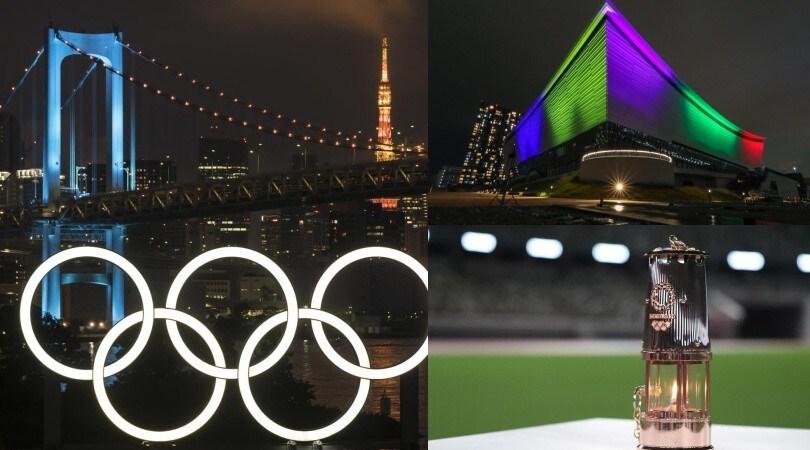 Olimpiadi di Tokyo, manca un anno esatto: la città si illumina