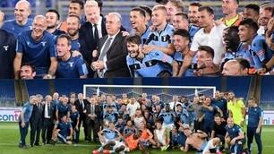 Lazio, festa finale al sapore di Champions: con Lotito saluto simbolico ai tifosi