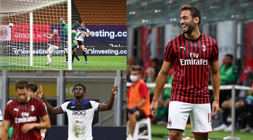 """Perla di Calhanoglu, poi """"il solito"""" Zapata: Milan-Atalanta è 1-1"""