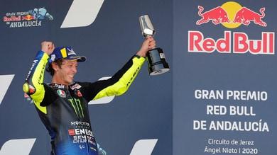 Valentino Rossi: terzo posto da urlo! Grande festa sul podio