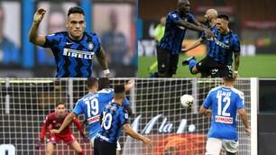 Lautaro Martinez segna in Inter-Napoli ma l'esultanza è polemica
