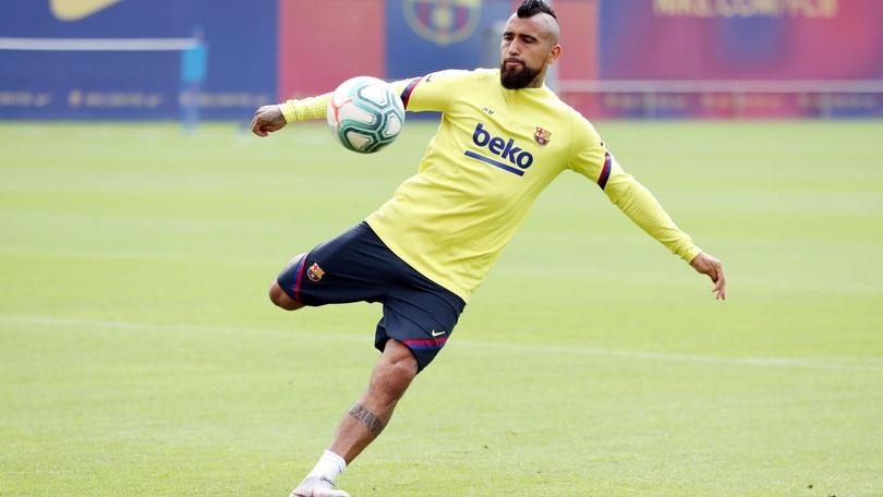 L'Inter aspetta Vidal, che si allena regolarmente con il Barcellona