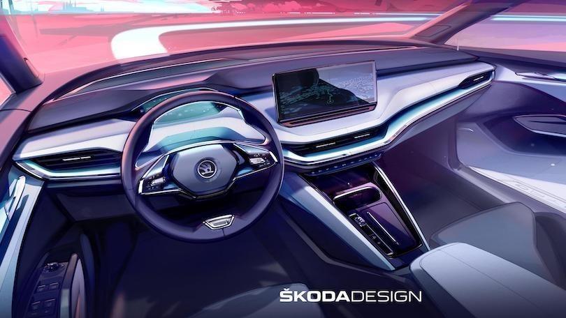 Skoda Enyaq, gli interni del SUV elettrico