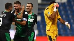 La manita del Sassuolo rovina la salvezza del Genoa