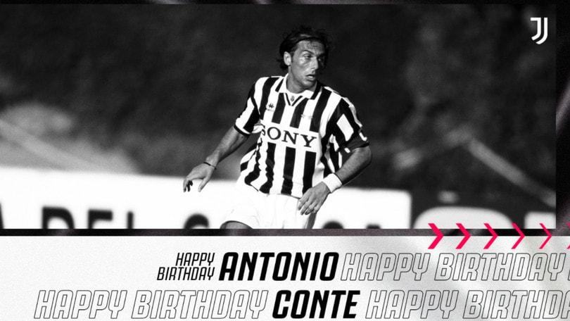 Compleanno di Conte, arrivano anche gli auguri della Juve