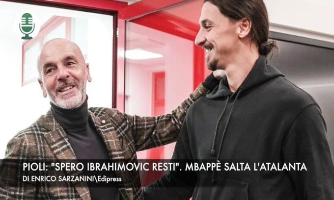 """Pioli: """"Spero Ibrahimovic resti"""". Mbappè, niente Atalanta"""