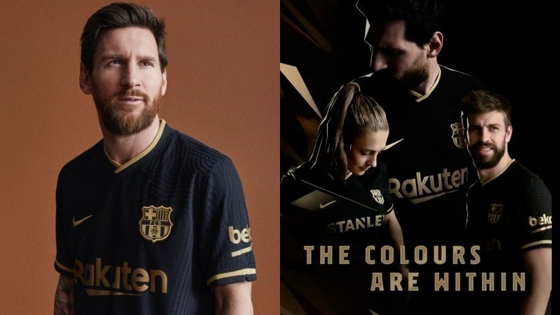 Il Barcellona presenta la seconda maglia 2020-21: Messi tra i testimonial