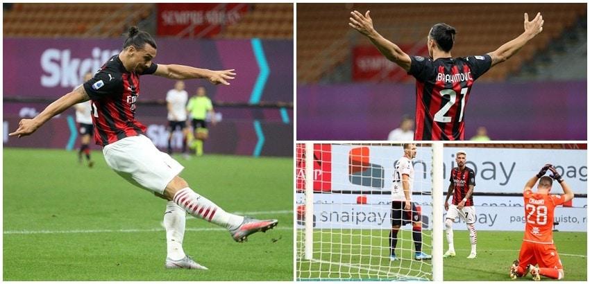 Ibrahimovic show, Cragno non basta al Cagliari. Il Milan vince 3-0