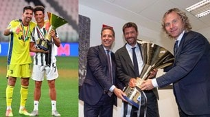 Juve, da Buffon e Ronaldo ad Agnelli: tutti in posa con la coppa