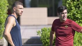 Dzeko e Fonseca a colloquio: la Roma punta il Siviglia
