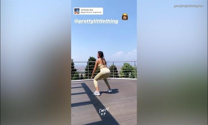 Georgina Rodriguez, lo squat è...bollente!
