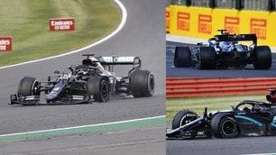 Hamilton show a Silverstone: vince anche su tre ruote!