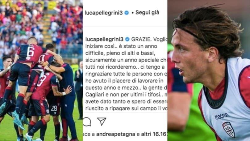 Pellegrini torna alla Juve e saluta il Cagliari: