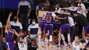 Nba, Booker beffa i Clippers con una magia sulla sirena