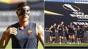 "Roma, la rifinitura prima del Siviglia: Pellegrini ""in maschera"", Dzeko tira il gruppo"