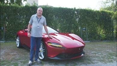 Ferrari Roma, primo test su strada VIDEO