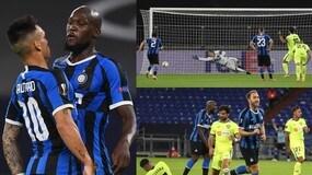 Lukaku-Eriksen, l'Inter di Conte ai quarti. Molina sbaglia il rigore