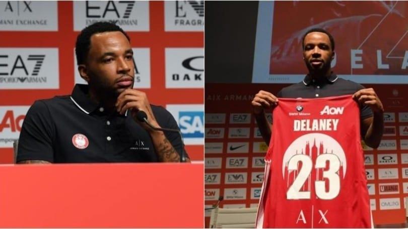 Olimpia Milano, ecco Delaney: la presentazione della stella americana