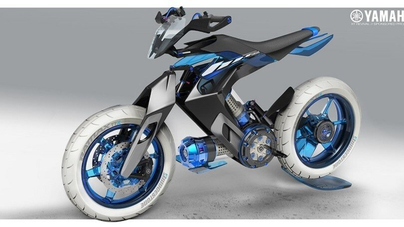 Yamaha XT 500 H2O Concept: la moto alimentata ad acqua
